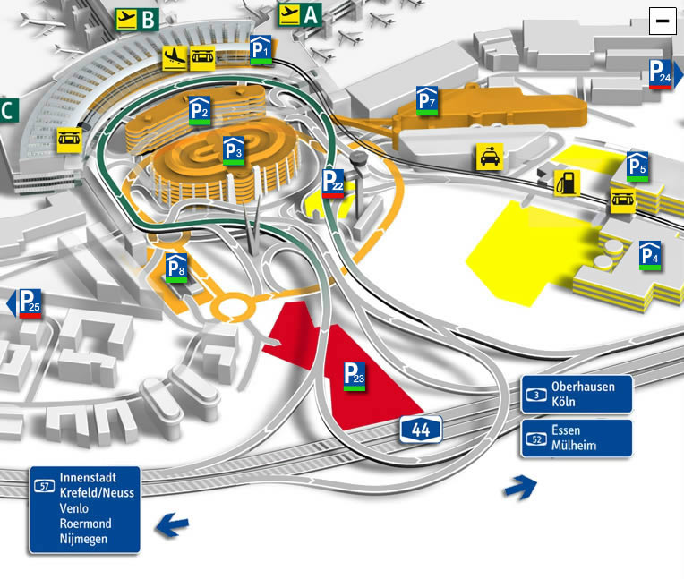 dusseldorf airport map: